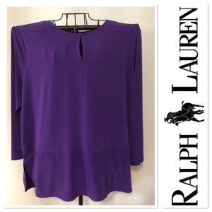 NWT Ralph Lauren purple long sleeve top